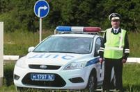 На федеральной трассе Москва-Минск установлены картонные патрули ДПС